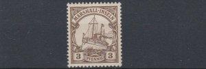 MARSHALL  ISLANDS 1901   S G  G11   3PF  BROWN   MNH