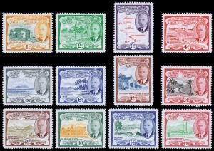 St. Kitts-Nevis Scott 107-118 (1952) Mint LH VF Complete Set, CV $32.60 C