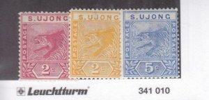 Malaya Federated States: Sungei Ujong: Sc #31-33,MH (35499)
