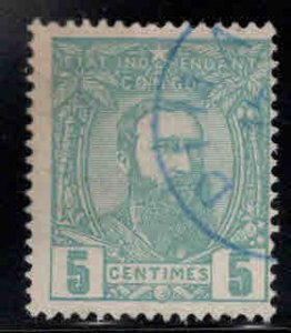 Belgian Congo Scott 6 Used nice blue cancel