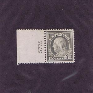 SC# 418 UNUSED OG MNH 15c FRANKLIN PL # 5775, 1912, PSE CERT GRADED XF 90 LOOK.