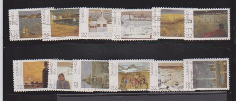 CANADA DAY 1984 SET OF PAINTINGS  (12) USED STAMPS  LOT#7