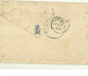GB SURREY Cover *Englefield Green* Staines Duplex 1869 NAVAL Barracks Kent NN272