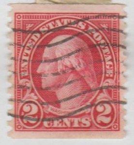 U.S. Scott #599A Washington Stamp - Used Single