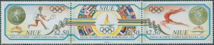 Niue 1992 SG734a Olympics strip MNH