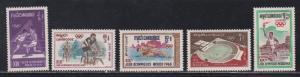 Cambodia # 193-197, Mexico City Summer Olympics, NH, 1/2 Cat.