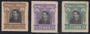 Honduras - 1891 - SC 62-64 - MH - High values