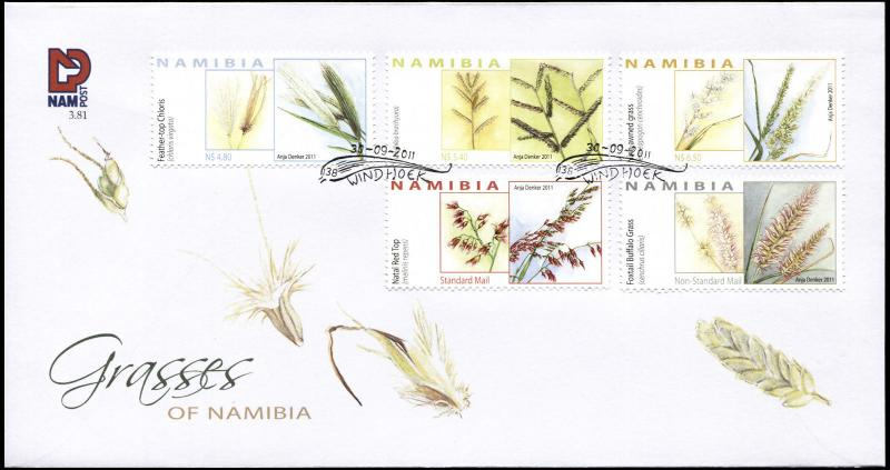 Namibia. 2011. Grasses of Namibia (Mint) First Day Cover