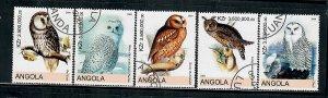 Angola Used Birds / Owls partial set CTO