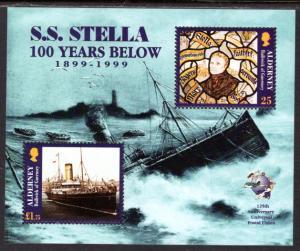 Alderney 127 Ship Wreck Souvenir Sheet MNH VF