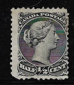 CANADA, 21, MINT HINGED ,QUEEN VICTORIA, STAIN ON BACK
