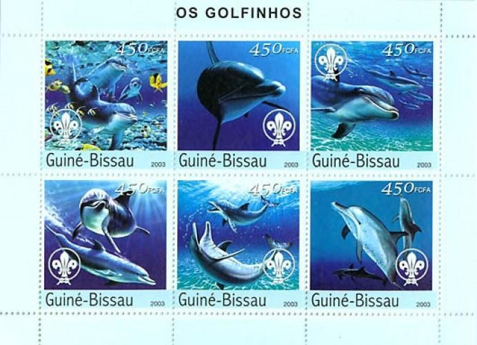 Guinea Bissau MNH S/S Dolphins Marine Life 2003