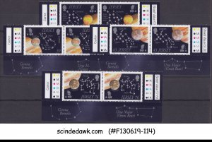 JERSEY - 2009 ASTRONOMY / EUROPA / SPACE - 4V PAIR TRAFFIC LIGHT STAMPS MNH