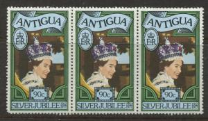 Antigua #462 MNH 1977 Strip of 3 X  90c Stamps