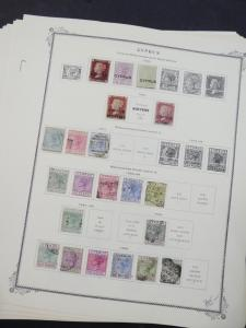 EDW1949SELL : CYPRUS Very nice collection of Mint & Used on album pgs. Cat $1620