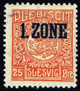 GERMANY STAMP PLEBISCIT 1.ZONE OVERPRINT SLESVIG  25øre MH/OG TYPE 7 V  $65
