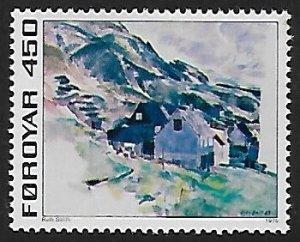 Faroe Islands # 19 - Houses at Nes - MNH