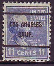 Los Angeles CA, 816-61 Bureau Precancel, 11¢ Polk