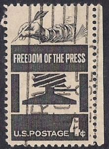 1119 4 cent Freedom of Press F-VF used