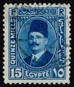 Egypt #139 King Fuad; Used (0.25) (4Stars)