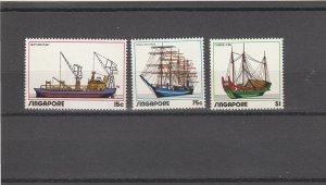 Singapore  Scott#  164-166  MNH  (1972 Shipping Industry)