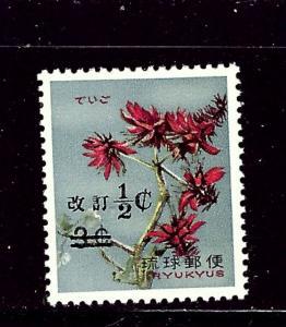 Ryukyu Is 190 MNH 1969 Surcharge