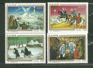 Zaire MNH 1000-3 Christmas 1980 SCV 5.50