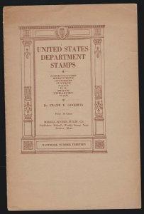 US Vintage United States Department Stamps Booklet # 13 (002)