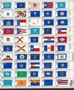 United States, 1633-82, State Flags Full Sht(50),**MNH**