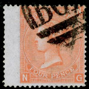 SG94, 4d vermilion plate 11, FINE used. Cat £29. B01 ALEXANDRIA. NG