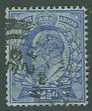 Great Britain SC#131 King Edward VI, 2-1/2d, Used
