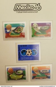 O) 1986 CHILE, 1986 WORLD CUP SOCCER CHAMPIONSHIPS, 1986 BENIN  SCT 600- UNION O