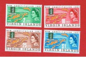 Virgin Islands #179-182  MNH OG   Map & Seal   Free S/H