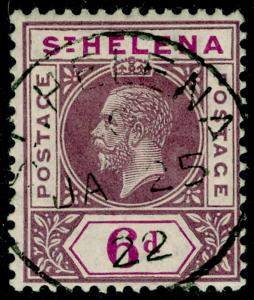 ST. HELENA SG86, 6d dull & dp purple, VERY FINE USED, CDS. Cat £28.