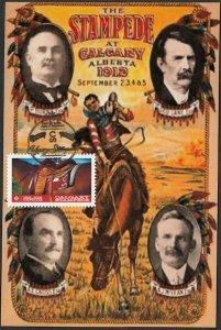 CANADA #2547 CALGARY STAMPEDE MAXIMUM CARD #4