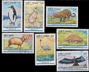 1985 Vietnam Wild Animals  SC# 1523-1529 Used