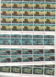 Bermuda 1975 Gunpowder Plot Wholesale 100 Sets + 100 Souvenir Sheets MNH CV$600+