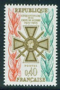 France Scott 1123 MNH** 1965  Croix de Guerre medal stamp