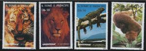 St.Thomas&PrinceIslands SC1237-1240 Greenpeace 25th Anniv.Wild Animals MNH 1996