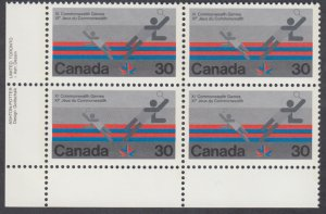 Canada - #758 Commonwealth Games Plate Block - MNH
