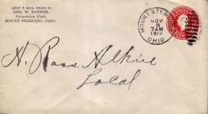 United States, Postal Stationery, Ohio