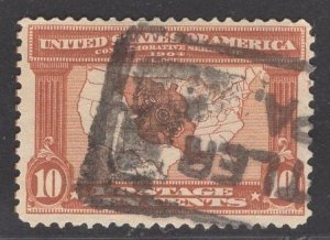 US Stamp #327 10c Red Brown Louisiana Purchase  SCV $27.50