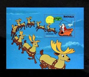 ANGUILLA - 1981 - DISNEY - CHRISTMAS - SANTA & SLEIGH - REINDEER - MINT S/SHEET!
