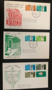 3 Dublin Ireland First Day Covers FDC Golden jubilee Collection Lot