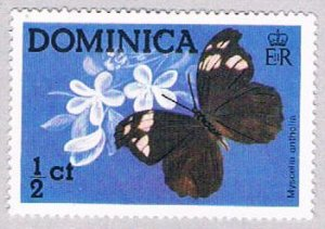 Dominica Butterflies half cent - pickastamp (AP103907)