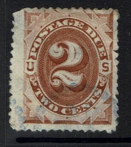 US SC# J2, Used, Thinned - Lot 040917