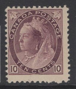 CANADA SG164 1898 10c DEEP BROWNISH PURPLE MTD MINT