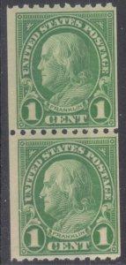 Scott #604 Mint OG NH Coil Pair - Lot #MO-192