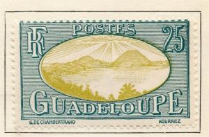 Guadeloupe 1928 Early Issue Fine Mint Hinged 25c. 077299