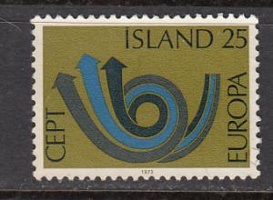 Iceland SC# 448  1973 25K Europa used